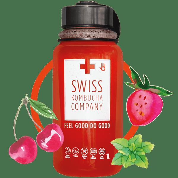 Strawberry Cherry Mint (1L bottle)